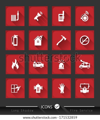 Fire services icons