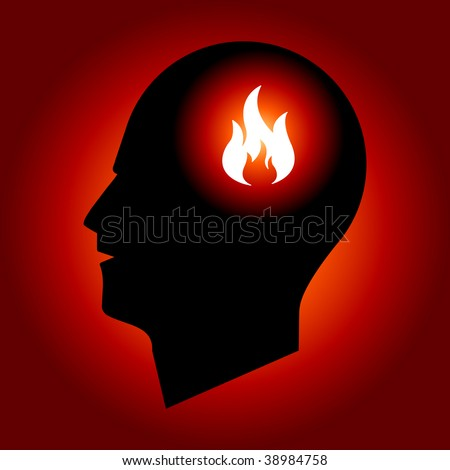Fire Sign in Human Head