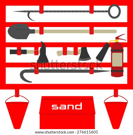 Fire stand,flat style illustration - stock vector