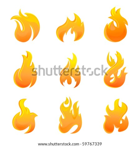 fire symbol - stock vector