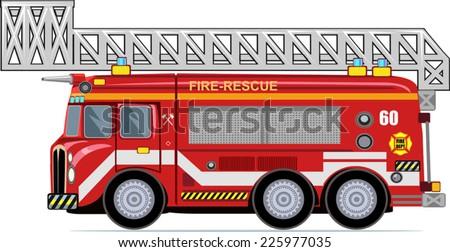 Fire truck - stock vector