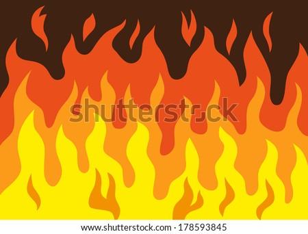 fire - vector cartoon - stock vector