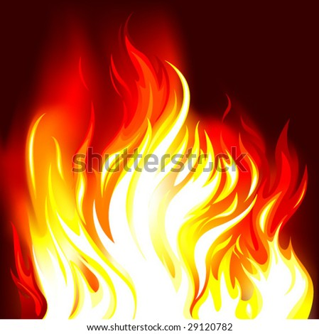 fire vector illustration - stock vector