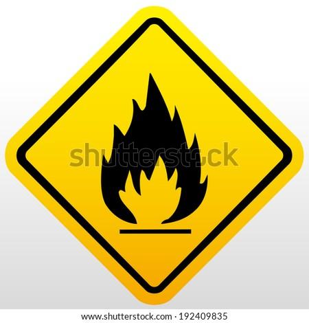 Fire warning sign - stock vector