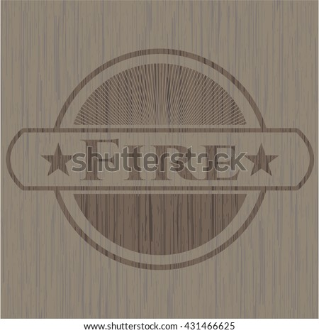 Fire wooden signboards - stock vector