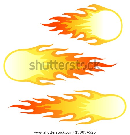 Fireballs - stock vector