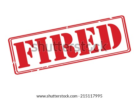 FIRED red rubber stamp vector over a white background. - stock vector