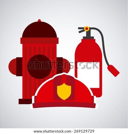 firefighter concept design, vector illustration eps10 graphic  - stock vector