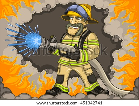 Firefighter on fire