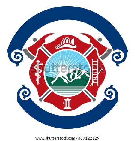fire department logo stock images, royalty-free images & vectors