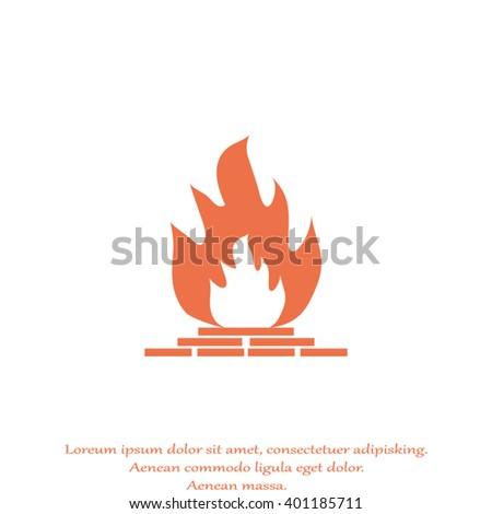 Fire Open Fire Fireplace Stock Vectors, Images & Vector Art ...