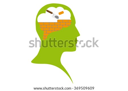 Firewall or education process - stock vector