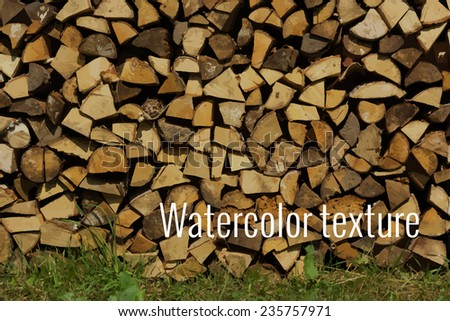 Firewood texture made in vector