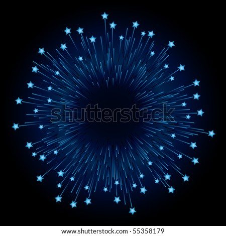 Firework (editable vector)