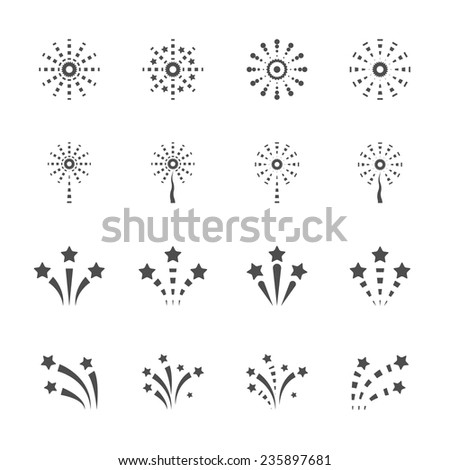 firework icon set 2, vector eps10. - stock vector