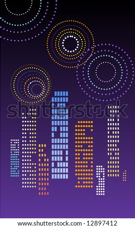 firework, 4th of July - stock vector