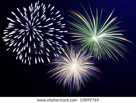 Firework, vector illustration, EPS file included - stock vector