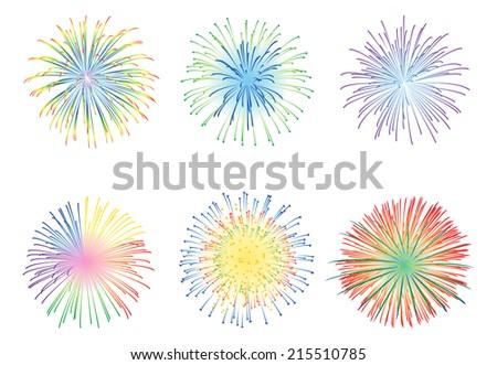 Fireworks display illustration - stock vector