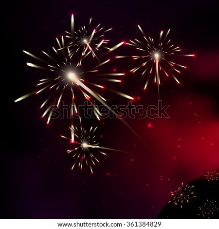 Fireworks. Galaxy. Milky way stars and star-dust in deep space / cosmos. Stars of a planet and galaxy in a free space. A glorious, rich star forming nebula. - stock vector