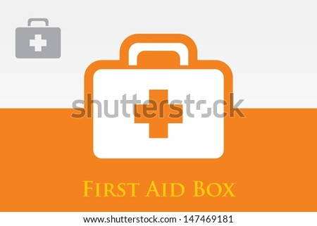 First Aid Box. Medical suitcase - stock vector