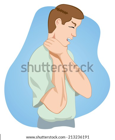 First aid, choking person  - stock vector