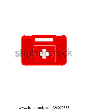 First aid,  first aid box,  first aid kit isolated - stock vector