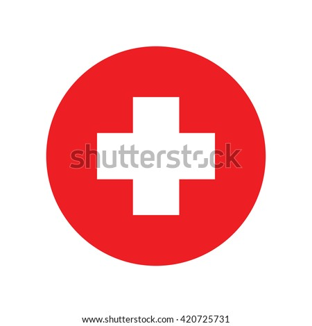First aid icon, first aid sign. Vector illustration - stock vector