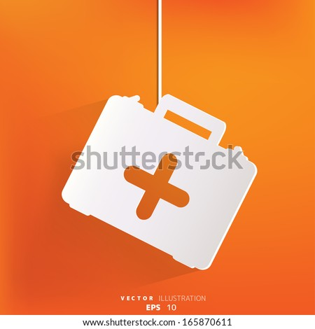 first aid kit icon - stock vector