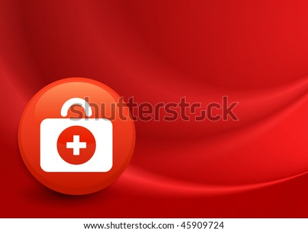 First Aid Kit Icon on Internet Button Original Vector Illustration - stock vector