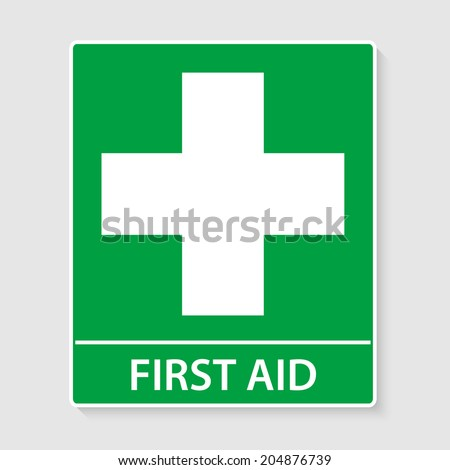 First Aid sign vector illustration - stock vector