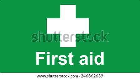 First Aid sign, vector illustration - stock vector