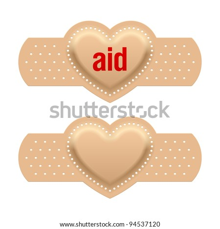 First aid with love. Vector. - stock vector