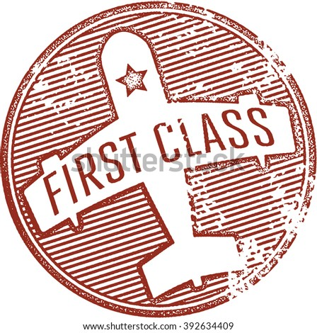 First Class Stamp - stock vector
