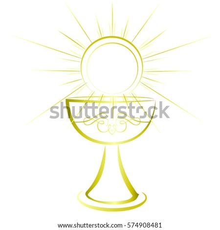 First communion chalice symbol nice invitation stock vector 2018 first communion chalice symbol for a nice invitation design stopboris Images