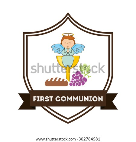 first communion design, vector illustration eps10 graphic  - stock vector