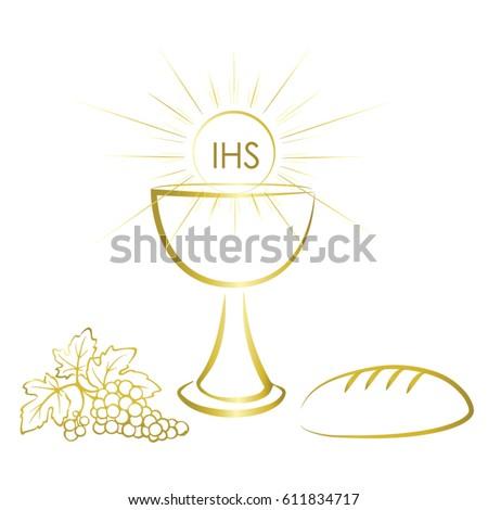 First communion symbols nice invitation design stock vector 2018 first communion symbols nice invitation design stock vector 2018 611834717 shutterstock stopboris Images