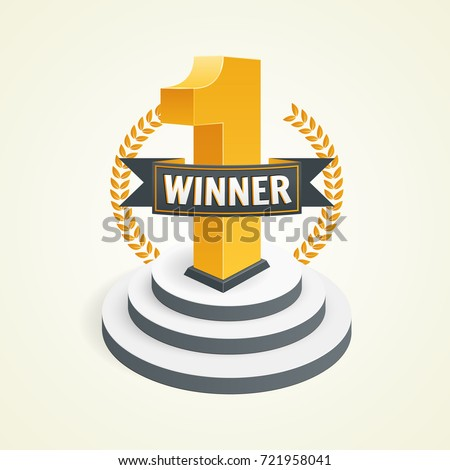first place ribbon graphics first place competition winner win award stock vector 714748057
