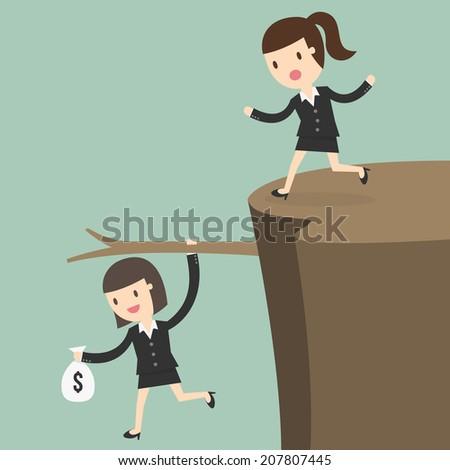 Fiscal cliff, crisis concept - stock vector