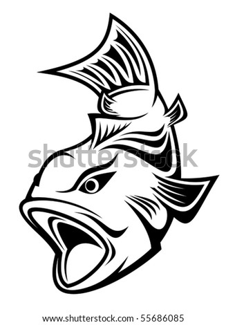 Fish as a fishing symbol - also as emblem. Jpeg version also available in gallery