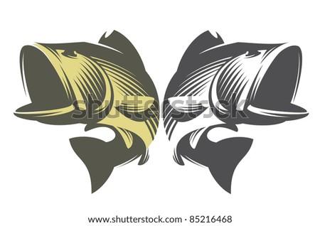 Fish Bass. - stock vector