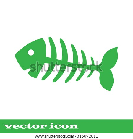 Fish Bone Fish Skeleton Stock Vector 215603497 - Shutterstock