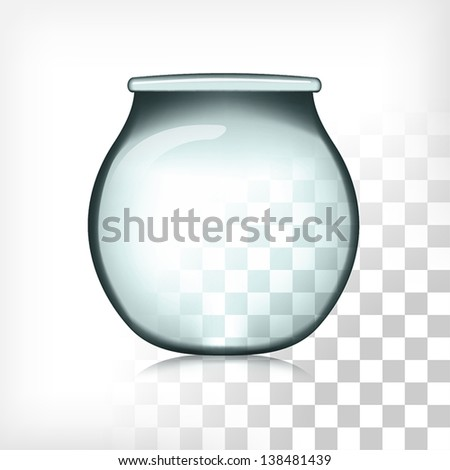 Fish Bowl Isolated Transparent EPS10 - stock vector