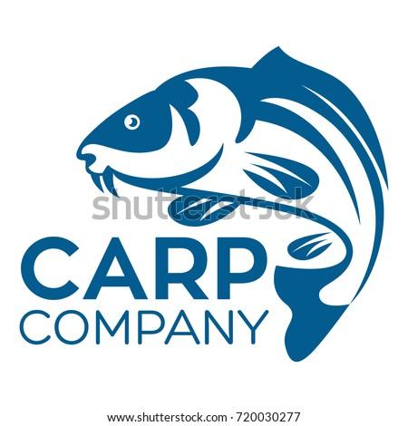 fish carp logo stock vector 720030277 shutterstock rh shutterstock com carp logo shirts carp logo shirts