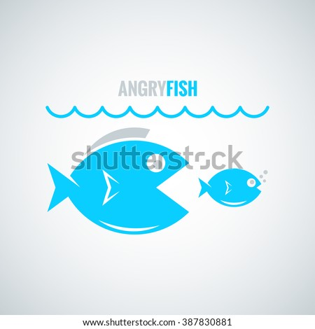 fish concept design background - stock vector