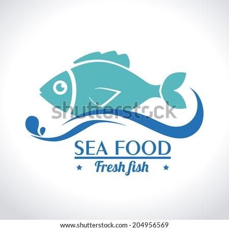 Fish design over white background, vector illustration - stock vector