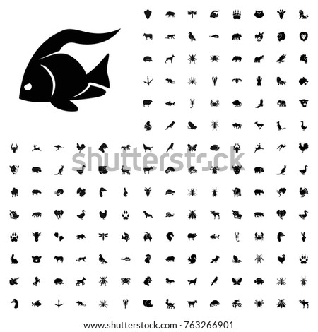 Fish icon illustration isolated vector sign symbol. animals icon set for web and mobile.
