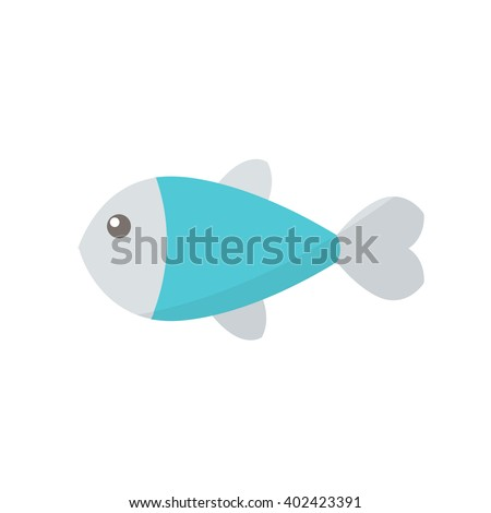 fish icon. vector illustration