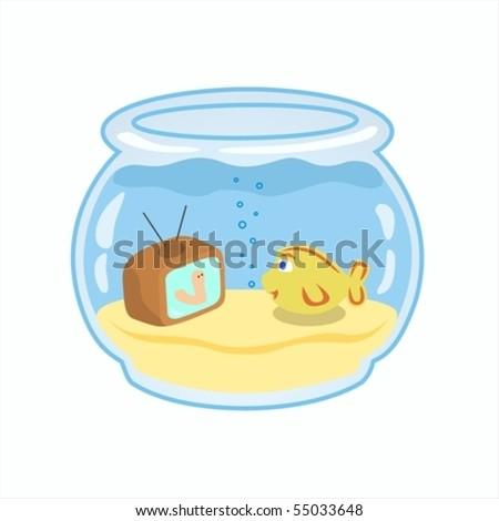 Fish in the aquarium. - stock vector