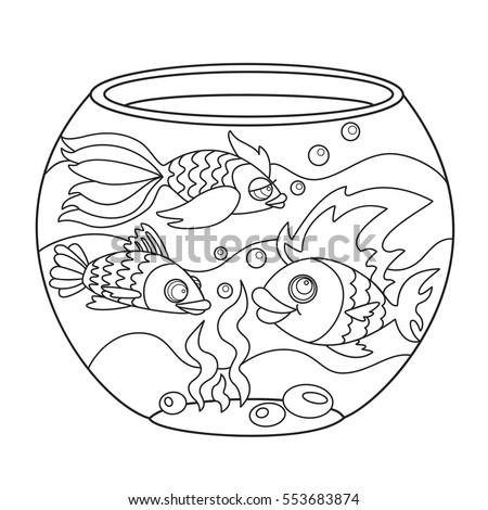 Fish Fishbowl Drawing Painting Coloring Stock Photo (Photo, Vector ...