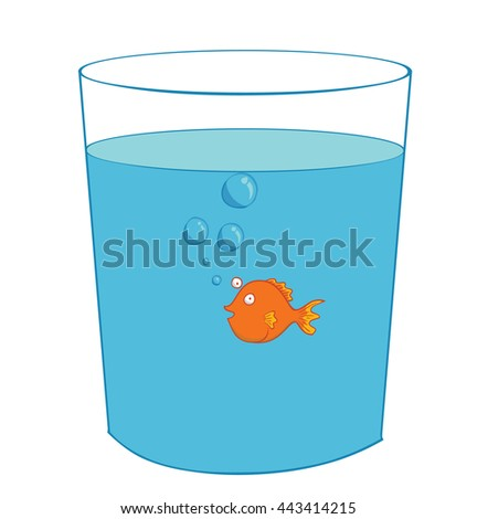 fish inside a glass